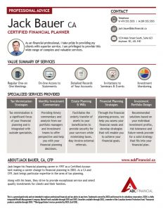 """Bauer"" Advisor Profile from Ativa Interactive"