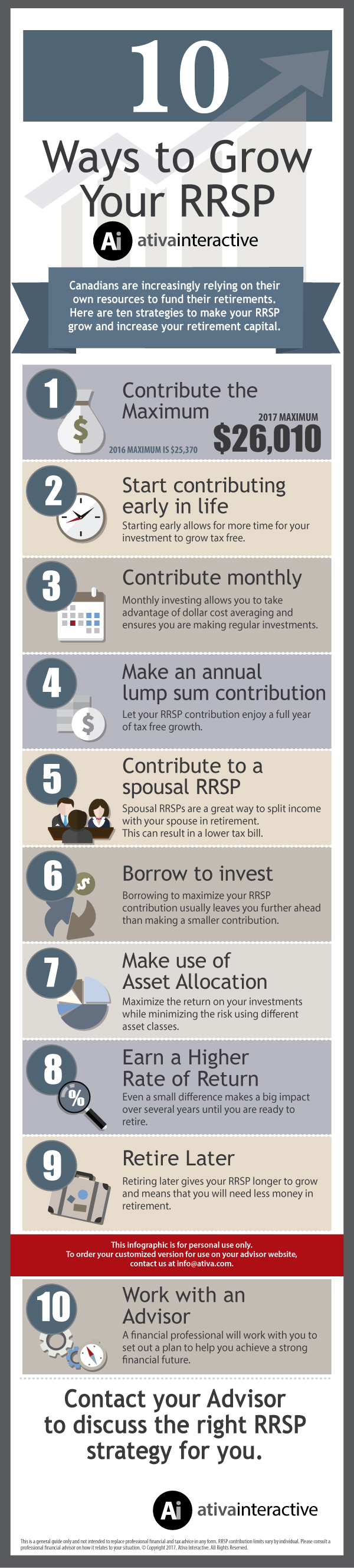 10 Ways to Grow Your RRSP Infographic